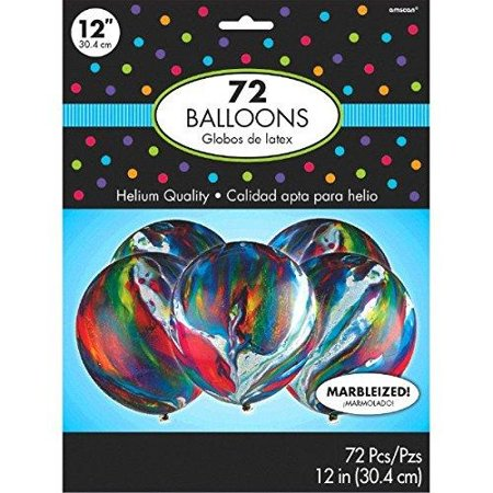 Amscan 113052 Latex Party Balloons (72 Piece), Marble,; 12