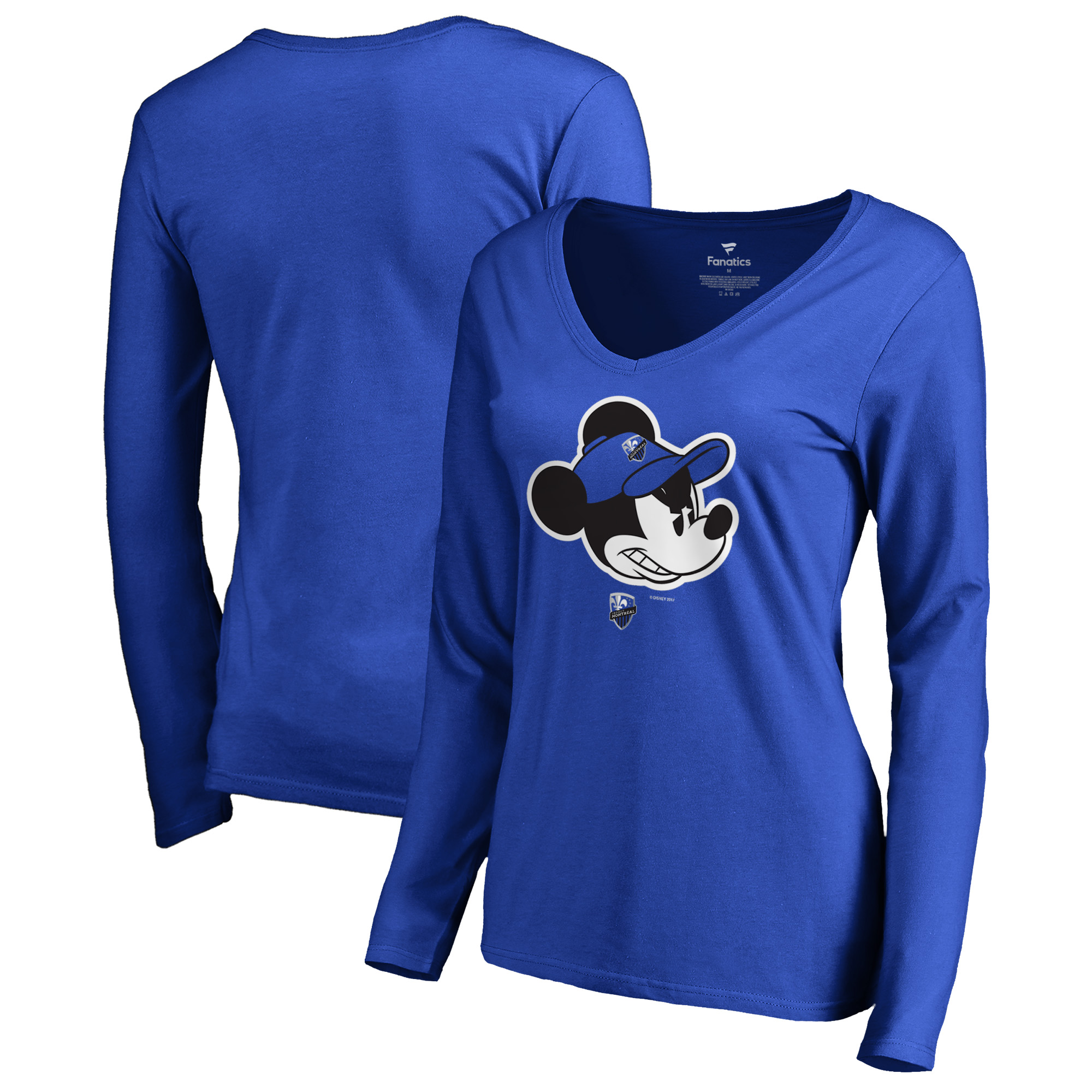 Montreal Impact Fanatics Branded Women's Disney Game Face Long Sleeve V-Neck T-Shirt - Blue