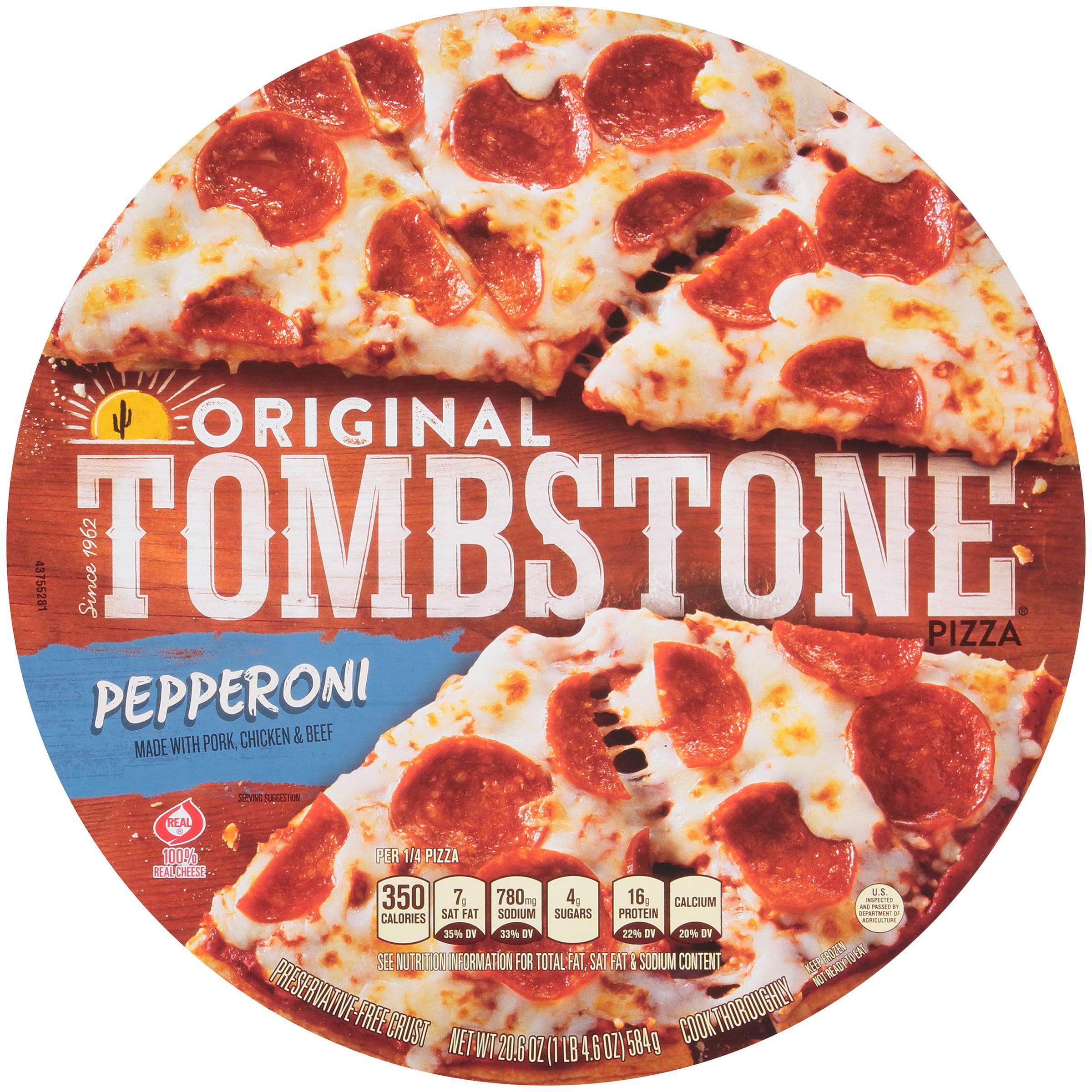 tombstone original pepperoni frozen pizza 206 oz pack