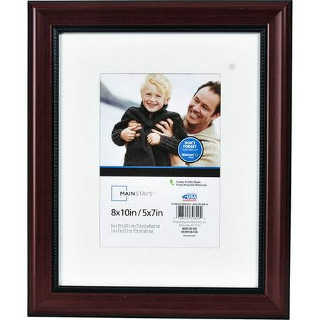 mainstays 8x10 walnut beaded picture frame. Black Bedroom Furniture Sets. Home Design Ideas