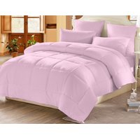 CC&DD HOME FASHION- All Season Down Alternative Comforter/Duvet/Insert,Pink,Full/Queen