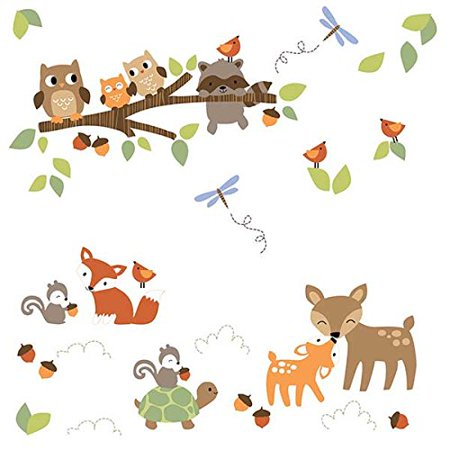Woodland Tales Wall Appliques, Woodland Tales Wall Decals from Lambs ...