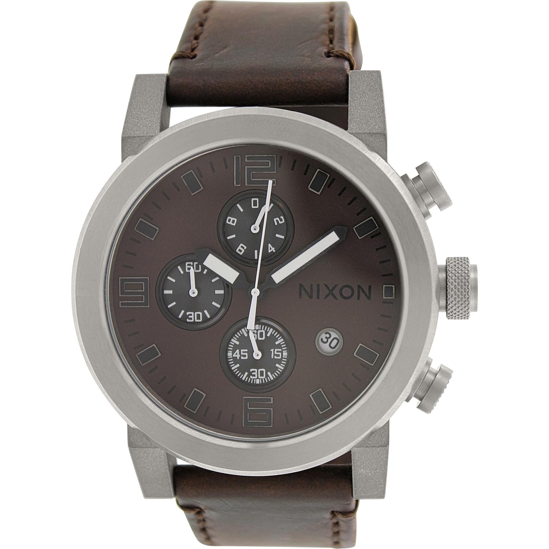 Nixon Men's Ride A315562 Brown Leather Quartz Fashion Watch