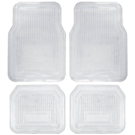 Clear Exactmat Cargo Liner - BDK 4pc Clear Car Floor Mats, Rubber