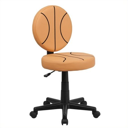 Scranton & Co Basketball Task Office Chair in Black and Orange - image 2 de 2