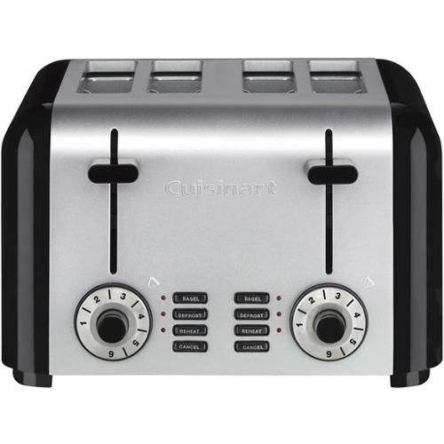 4-Slice Compact Stainless Steel Toaster