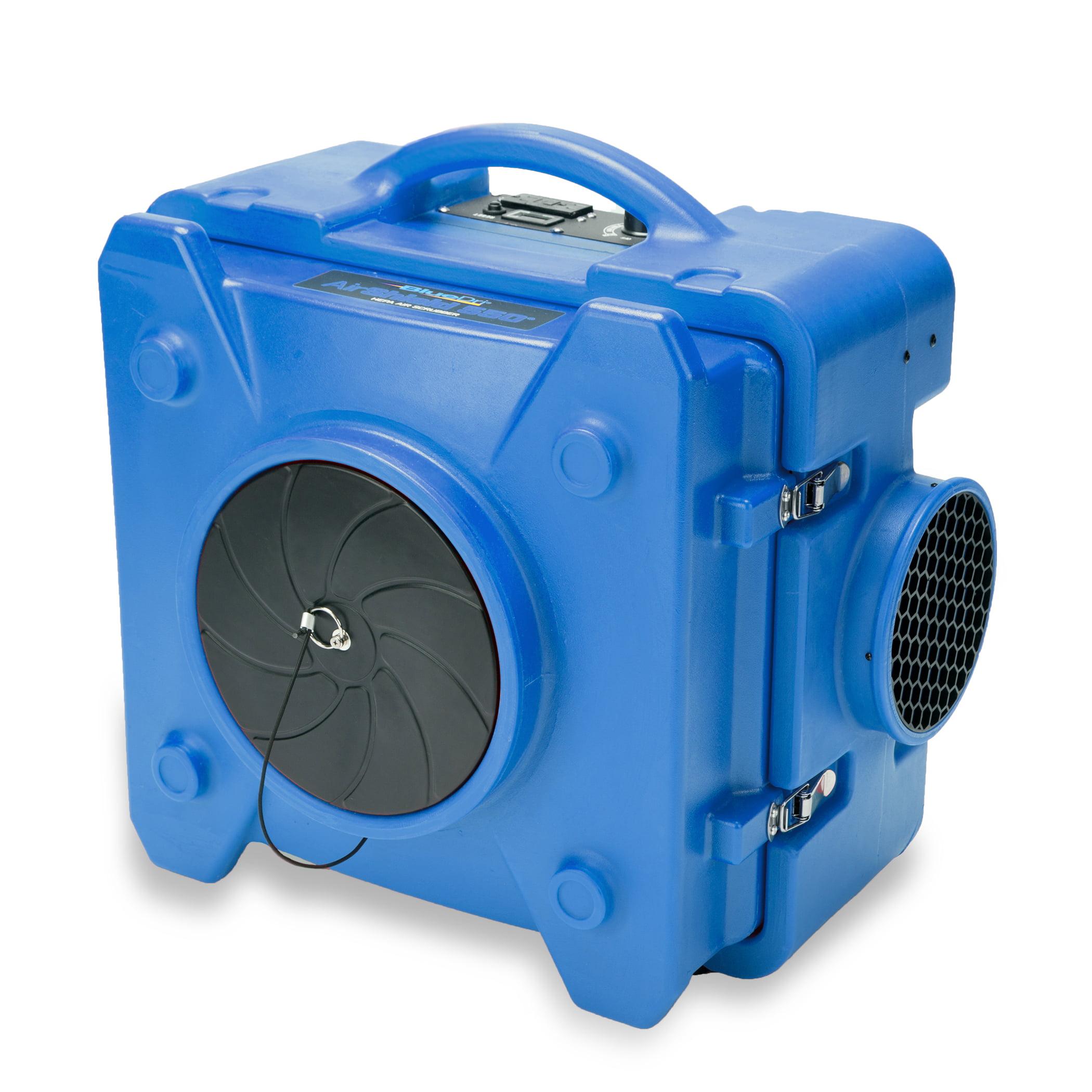BlueDri AS-550 Blue Air Scrubber, Negative Air Machine, HEPA Air Purifier, Air Filter To Eliminate Smoke, Mold, and Pet Dander, Blue