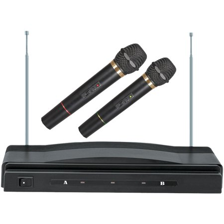 Supersonic SC-900 Professional Dual Wireless Microphone System (Inside Mic)