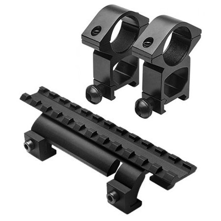 Optics Mounting Kit With Aluminum Scope Rings + Low Profile Rail Picatinny Compatible Rail Mount for HK H&k MP5 SP89 PTR91 Rifles for H&k 1st Generation GSG5 GSG-5.., By m1surplus from (Trijicon Ruggedized Miniature Reflex Low Picatinny Rail Mount)