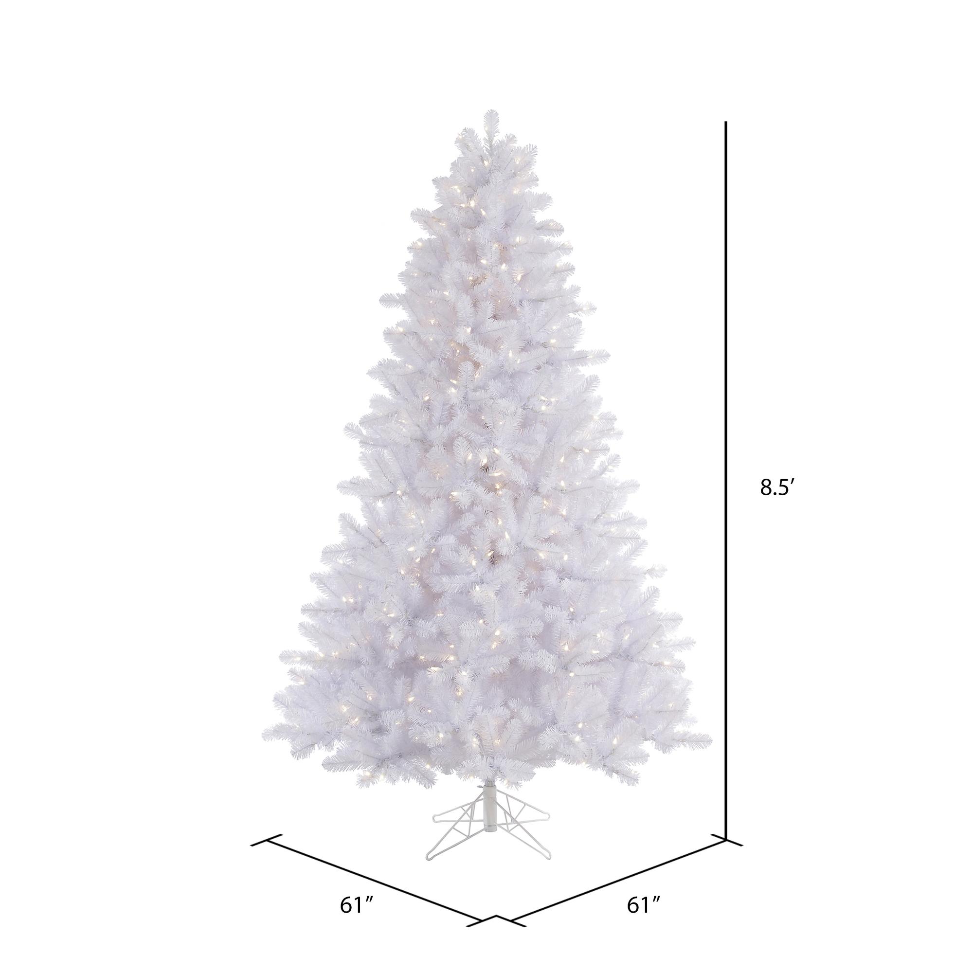 Vickerman 8 5 Ft Crystal White Pine Pre Lit Christmas Tree Walmart Com Walmart Com