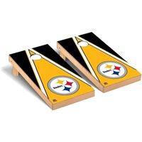 Pittsburgh Steelers 2' x 4' Triangle Cornhole Board Tailgate Toss Set