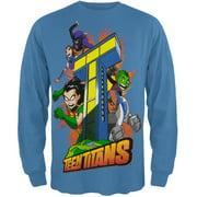Teen Titans - Tower Boys Youth Long Sleeve T-Shirt - X-Small