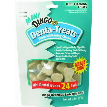 Dingo Denta Treats Teeth Whitening Chews Minis  24 Pack