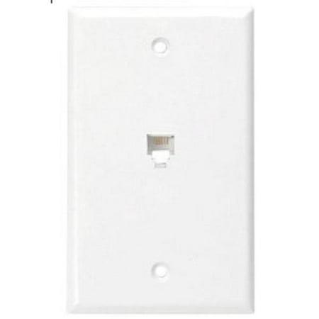 leviton white type 625b4 telephone 4 wire phone jack. Black Bedroom Furniture Sets. Home Design Ideas