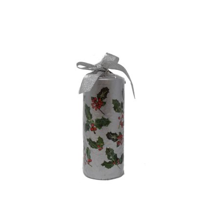 Rosalind Walshe 119065 Holly Berry Pillar Silver - Holly Berry Candle Rings