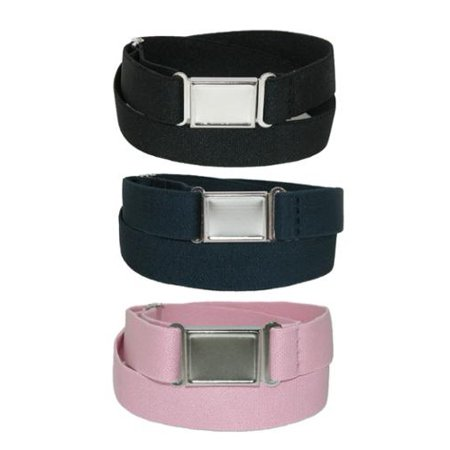 Kid's Elastic Stretch Belt with Magnetic Buckle (Pack of 3 Colors), Size: one size](Bat Girl Belt)