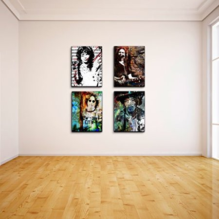 Ready2HangArt Alexis Bueno  inch Rock Stars inch  4 Piece Canvas Wall Art