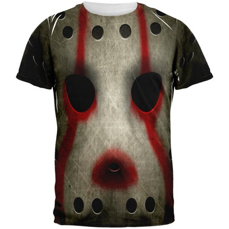 Halloween Horror Movie Hockey Mask Costume All Over Mens T Shirt