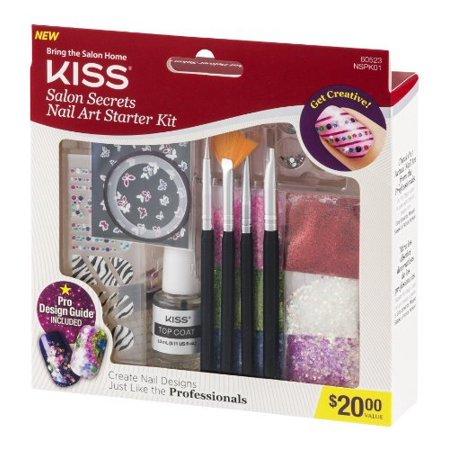 Kiss salon secrets nail art starter kit 60523 17 piece for Acrylic nails walmart salon
