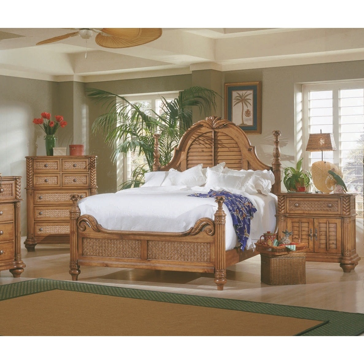 Progressive Furniture Inc. Palm Court Wood Headboard   Walmart.com