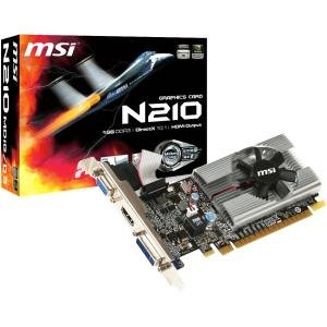 One Ind Graphics - MSI Geforce 210 1024 MB DDR3 PCI-Express 2.0 Graphics Card MD1G/D3