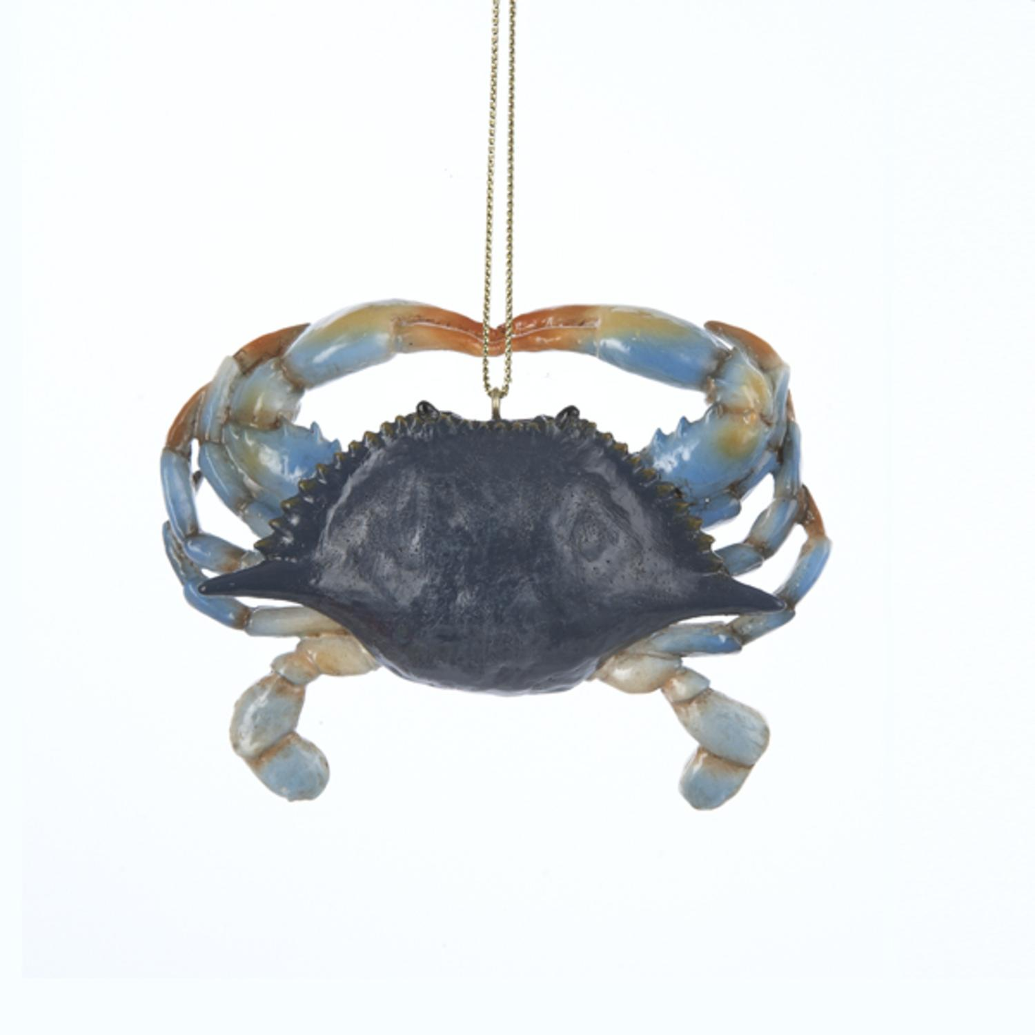 """Pack of 12 Under the Sea Blue Crab Christmas Ornaments 3.5"""""""