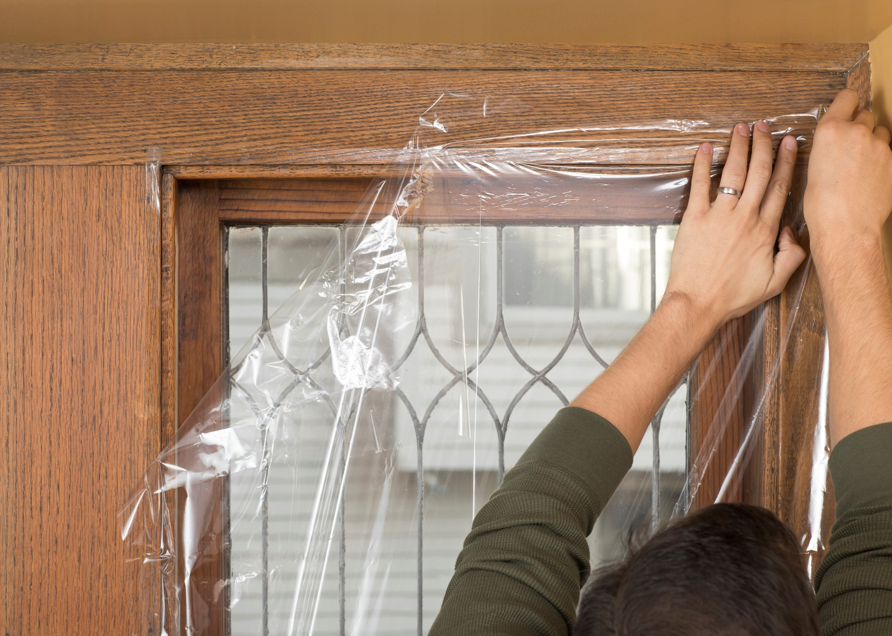 duck brand shrink film window kit for extra large windows or patio