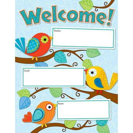 Carson Dellosa Boho Birds Welcome Chart (114190)