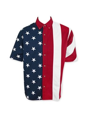 1204fbe8bff Product Image American Flag USA Button Up Dress Shirt. Patriotic