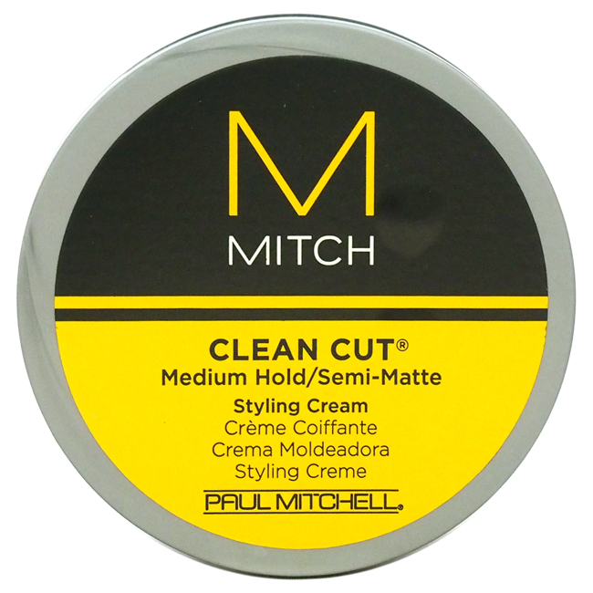 Mitch Clean Cut Medium Hold/Semi-Matte Styling Cream for Men, 3 Oz