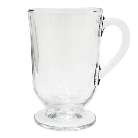 Set Of 12 Irish Coffee Glass Mugs Footed 10 5 Oz Thick Wall Glass For Coffee Tea Cappuccinos Mulled Ciders Hot Chocolates Ice Cream And More Walmart Com Walmart Com