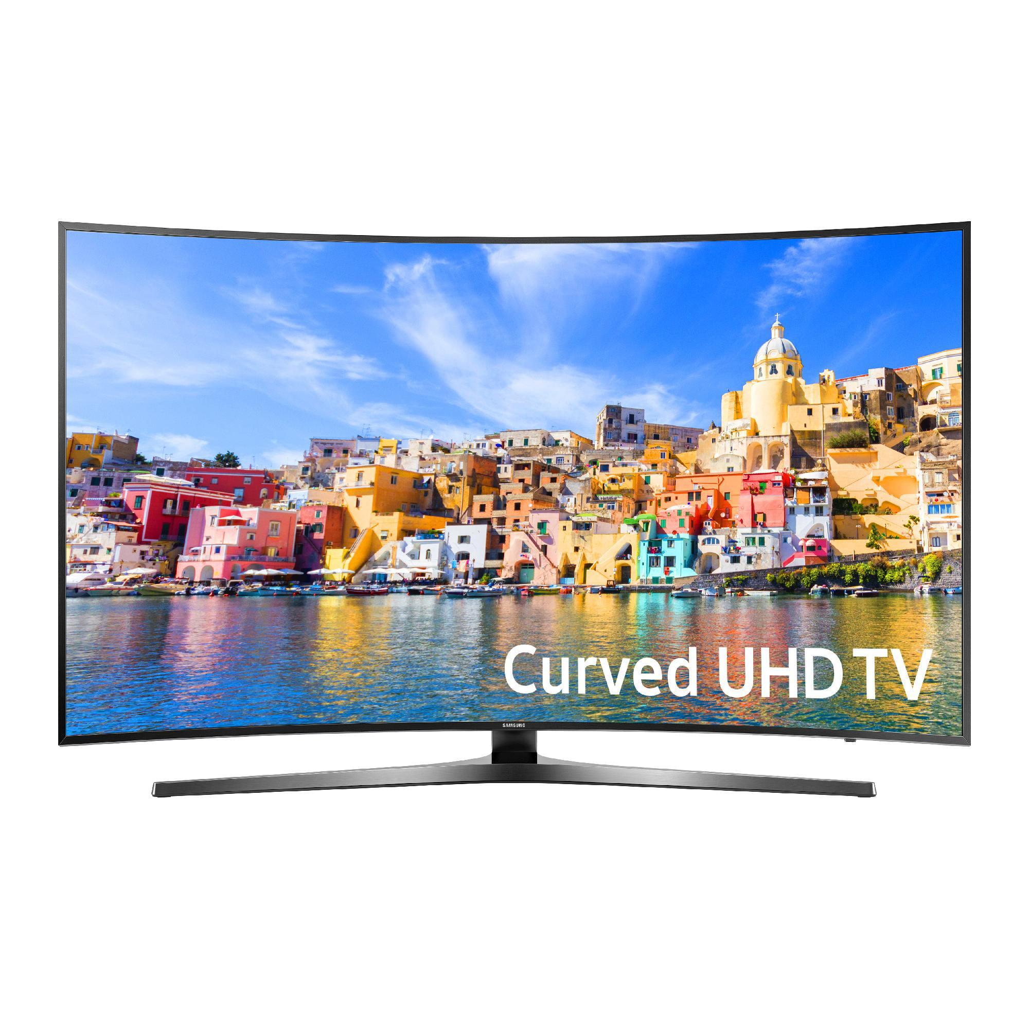 """SAMSUNG 65"""" 7500 Series - Curved 4K Ultra HD Smart LED TV - 2160p, 120MR (Model#: UN65KU7500)"""