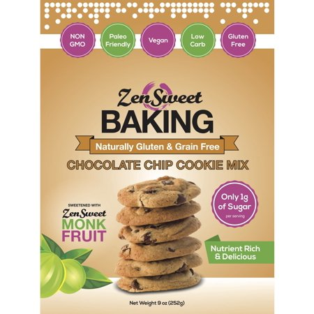 ZenSweet Baking Chocolate Chip Cookie Almond Flower Mix 9 oz