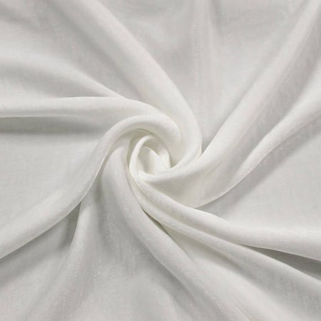 Off White Soft Poly Sand Wash Satin Fabric by the Yard