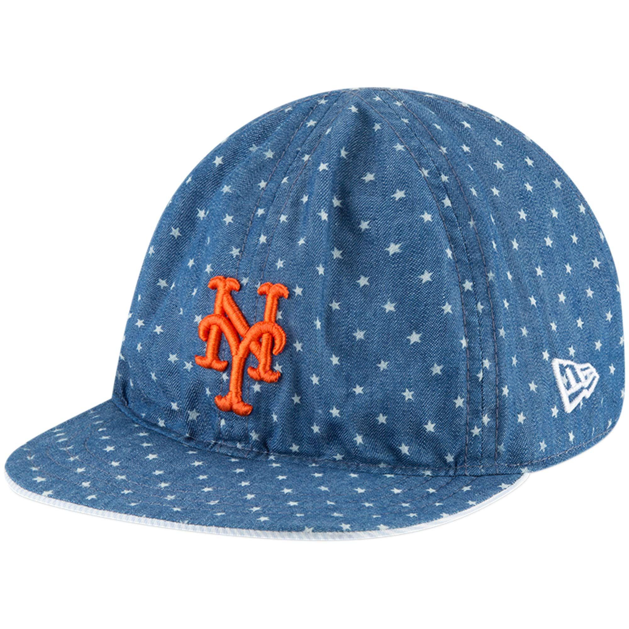 New York Mets New Era Toddler Flip 9TWENTY Adjustable Hat - Denim - OSFA