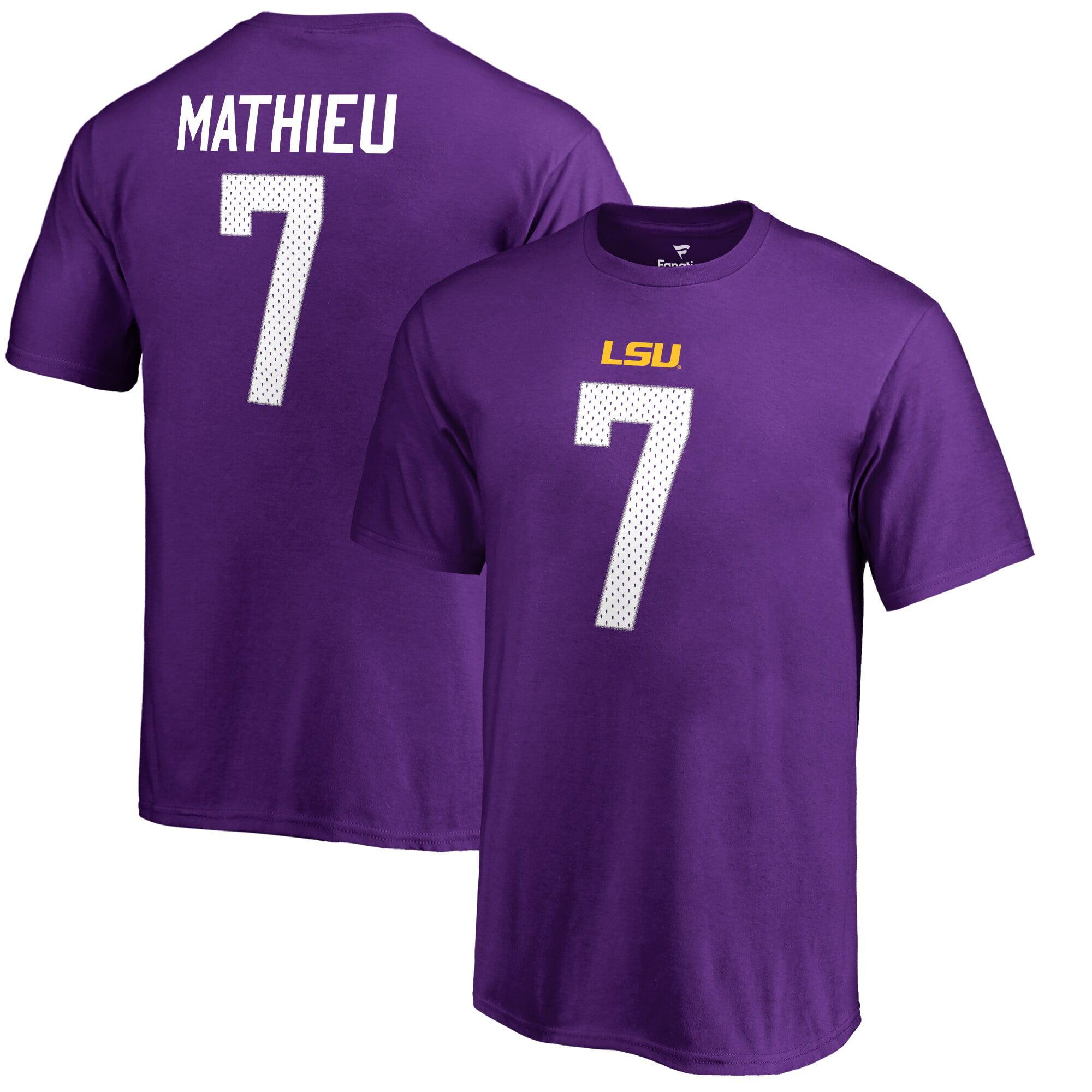 tyrann mathieu lsu jersey purple