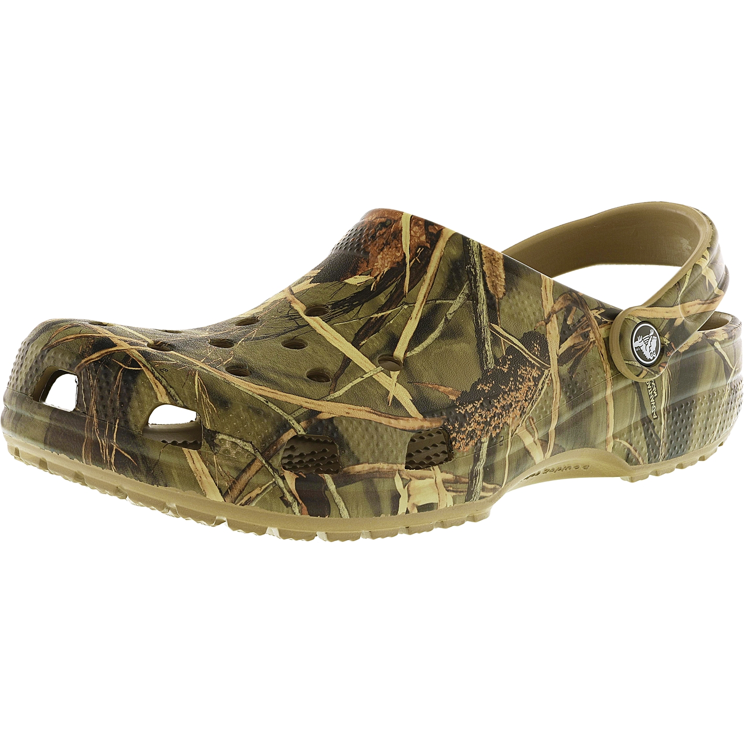 Crocs Classic Realtree Khaki Low Top Rubber Flat Shoe 13M   11M by Crocs