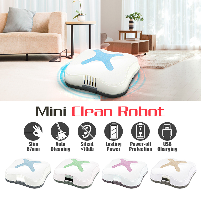 Mini Smart Robot Auto Robotic Vacuum Cleaner Floor Sweeper Automatic Dust Cleaning Machine USB Rechargeable Low Noise