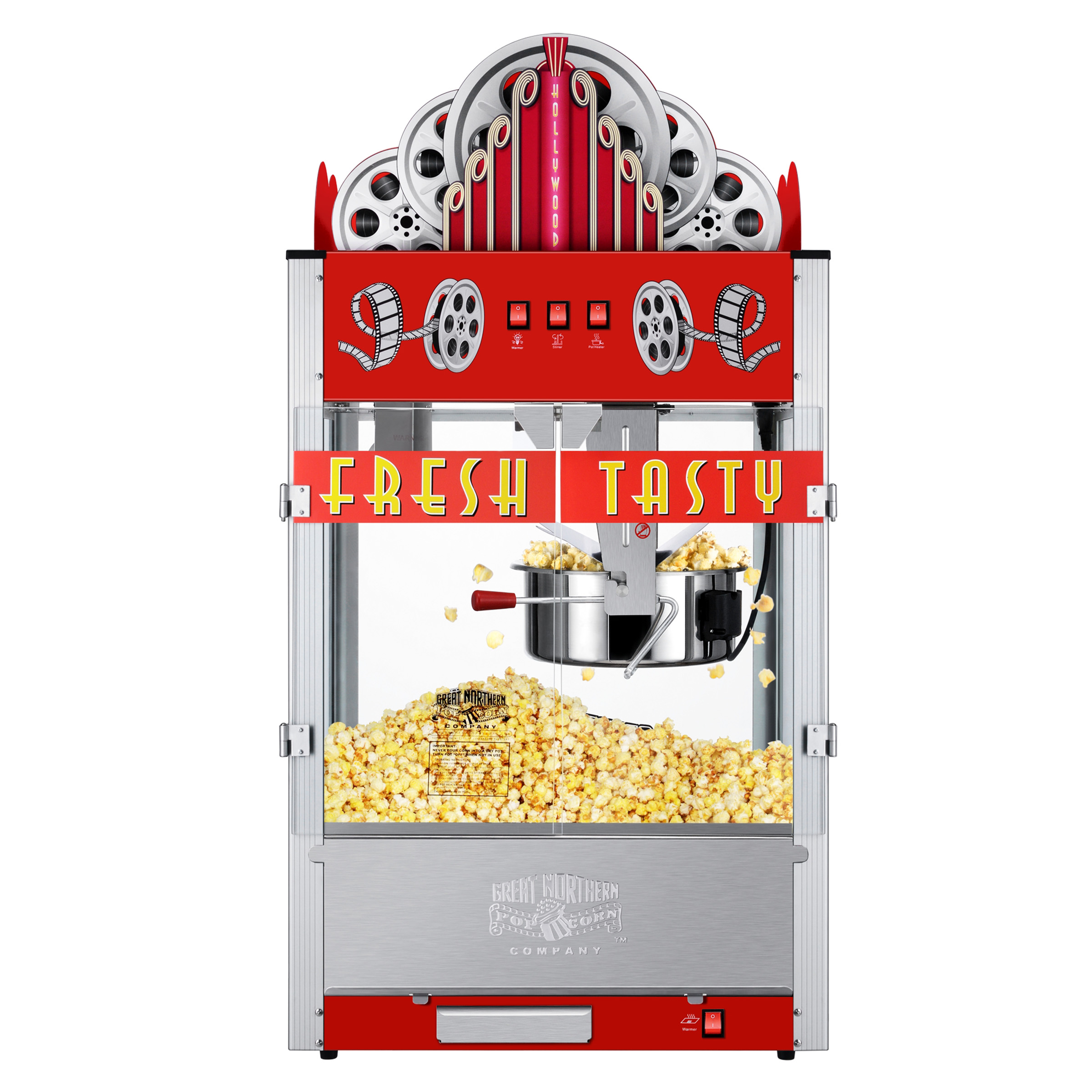Great Northern Popcorn 20 Ounce Red Commercial Style Popcorn Machine Movie Theater Marquee Popper Walmart Com Walmart Com
