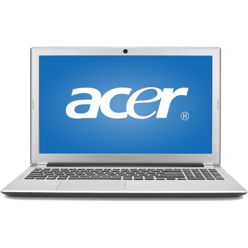 """Acer Silky Silver 15.6"""" Aspire V5-551-8401 Laptop PC with AMD A8-4555M Accelerated Processor and Windows 8"""
