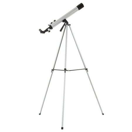 60mm Mirror Refractor Telescope – Aluminum Stargazing Optics with Tripod for Beginner Astronomy and STEM Education for Kids and Adults by Hey! Play!