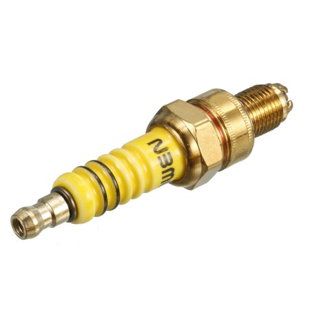 A7TC 10mm Thread Ignition Iridium Motorcycle Tertiary Spark Plug Gold Tone
