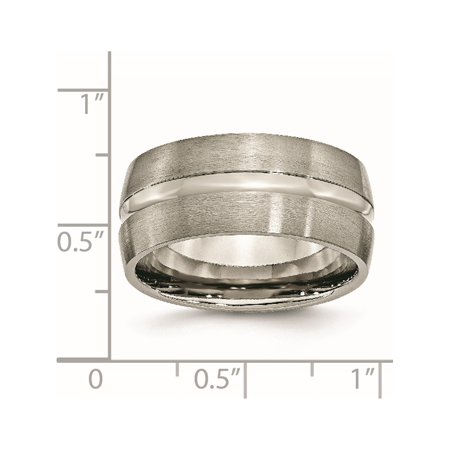 JbSP- Titanium Grooved 10mm Brushed and Polished Band - image 2 of 6