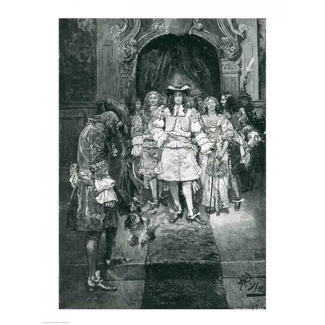 Posterazzi BALBAL108926 Quaker & King at Whitehall Poster Print by Howard Pyle - 18 x 24 in. - image 1 de 1