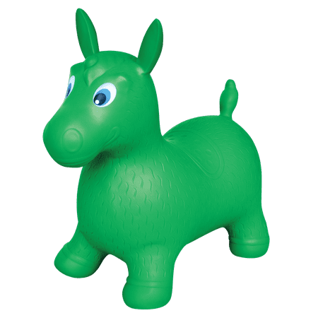Bounce Buddies Green Bounce Horse Ride-On
