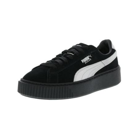 556e288cd309a3 PUMA - Puma Women s Suede Platform Explos Black   Leather Fashion Sneaker -  9M - Walmart.com
