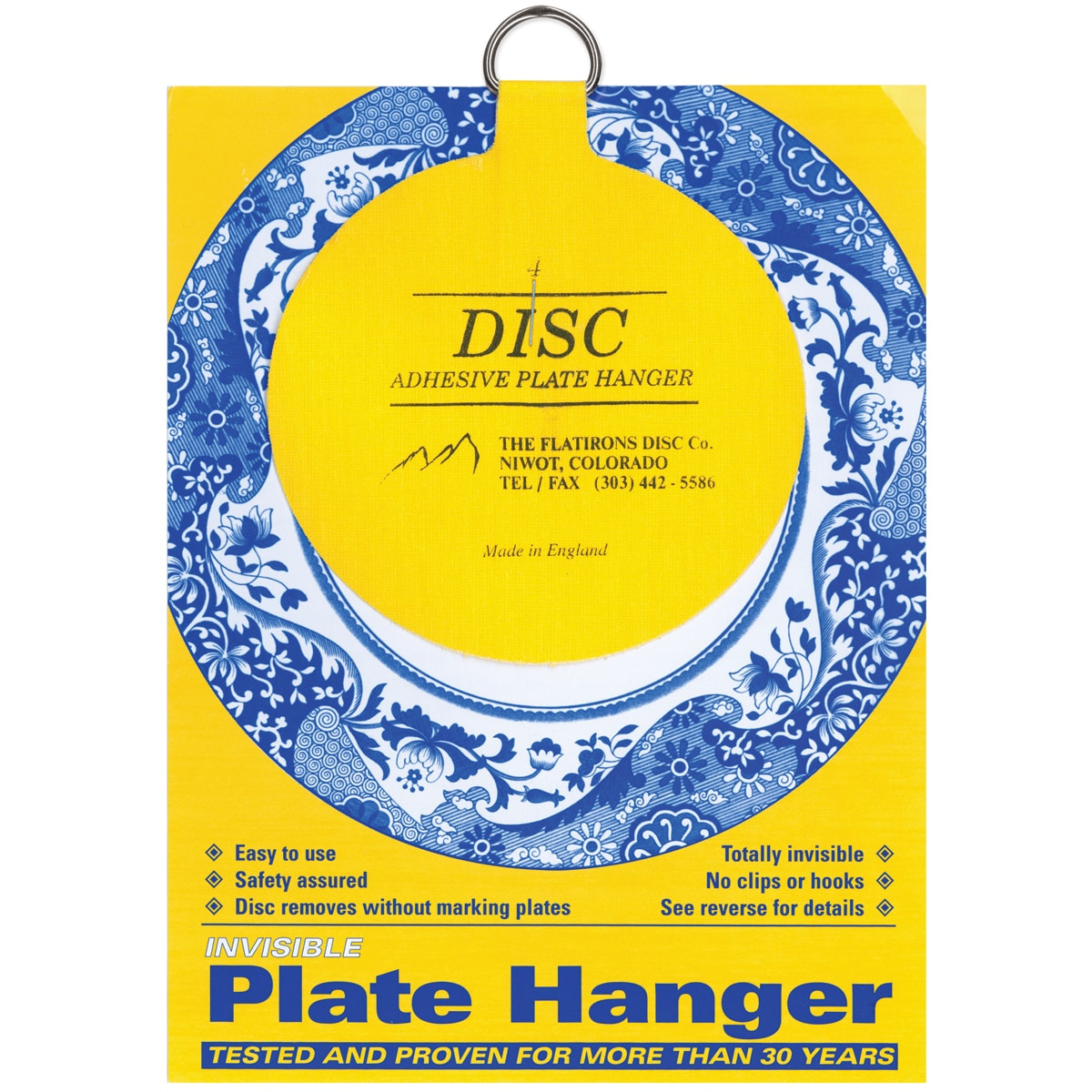Flatiron Disc Invisible Plate Hanger 4  For Plates Up To 12  (300mm) Diameter - Walmart.com  sc 1 st  Walmart & Flatiron Disc Invisible Plate Hanger 4
