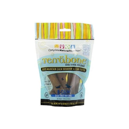 Complete Natural Nutrition Terrabone B-Calm Dental Chew Dog Treats, 6 Ct