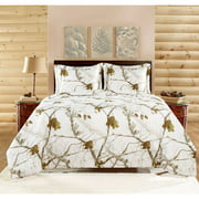 Realtree Comforter Set, Twin, Bright Snow
