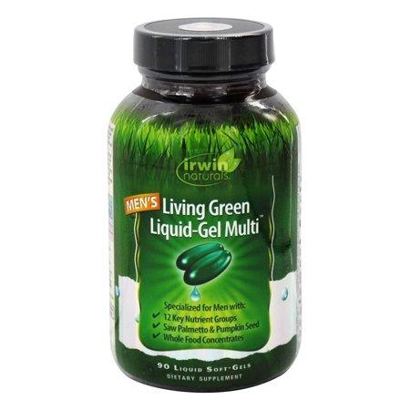 Irwin Naturals Men S Living Green Liquid Gel Multi Soft Gels